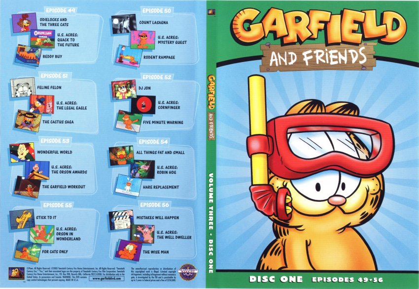 garfield and friends volume 3 disc 1 tv dvd scanned