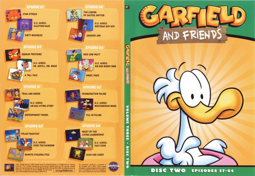 garfield and friends volume 3 disc 2 tv dvd scanned