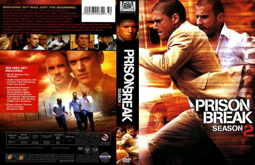 Prison Break Season 2 Tv Dvd Scanned Covers Prison