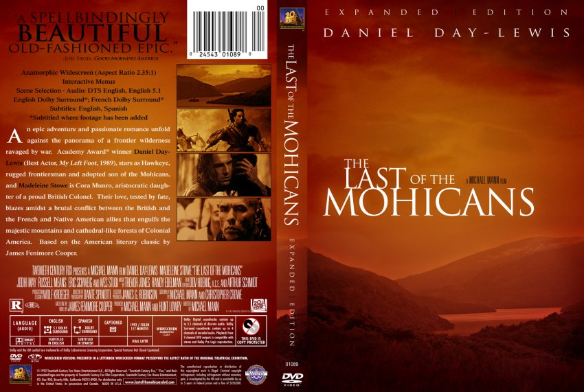 The Last Of The Mohicans Movie Dvd Custom Covers