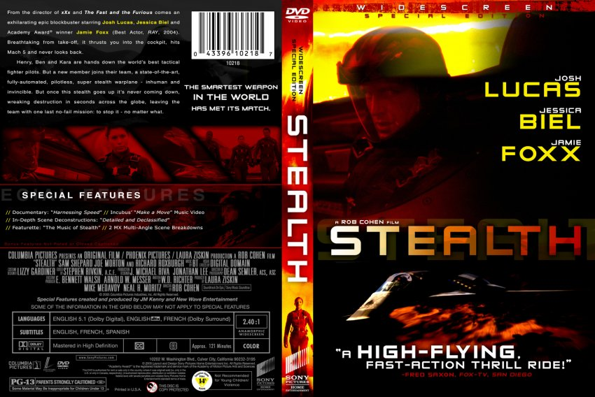 Stealth - Movie DVD Custom Covers - 1035stealth-syxxo ...