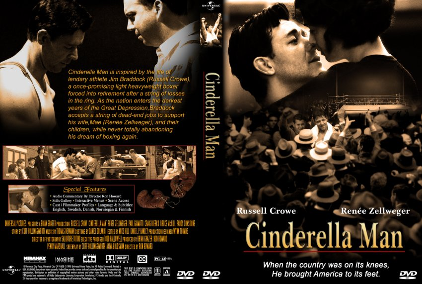 cinderella man synopsys Cinderella man movie overview cinderella man is released on 15 september 2005, directed by ron howard and created by cliff hollingsworth the following stars are starring in the movie russell crowe, renée zellweger and craig bierko this movie is rated r cinderella man has received 147638 ratings and managed to get a rating of.