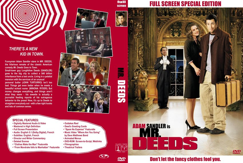 Mr deeds movie dvd custom covers 1184mrdeeds 01553 cstm dvd mr deeds m4hsunfo