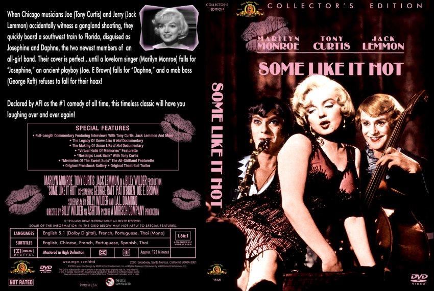 Some Like It Hot 1956 Movie Dvd Custom Covers 1195slihnew