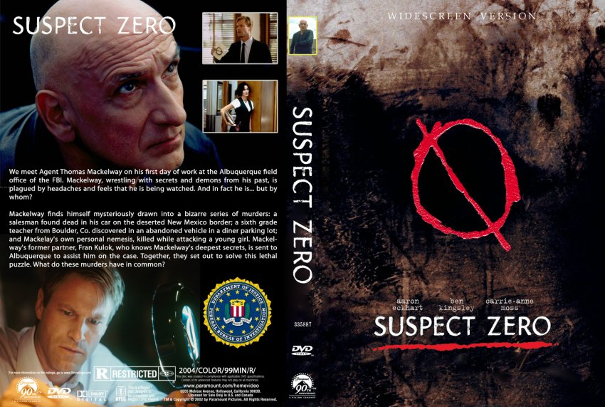 Suspect Zero Movie Dvd Custom Covers 119suspect Zero