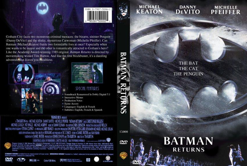 Batman Returns - Movie DVD Custom Covers ...