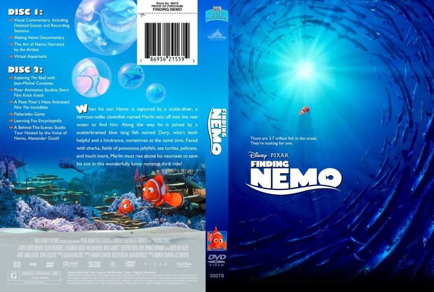 Finding Nemo - Movie DVD Custom Covers - 124111findingnemo ...