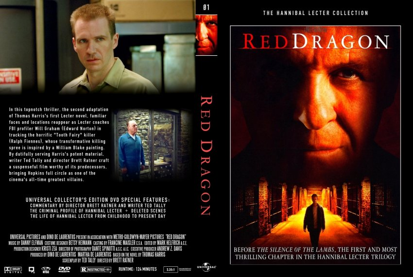 Red Dragon - Movie DVD Custom Covers - 1241Red-Dragon-DVD ...