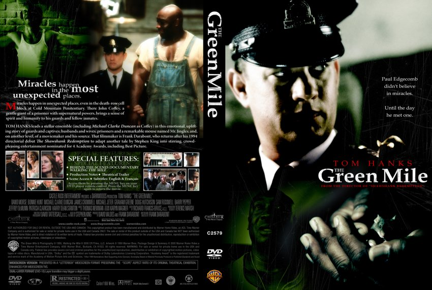 Green Mile Dvd Cover Green Dvd Green Mile Movie