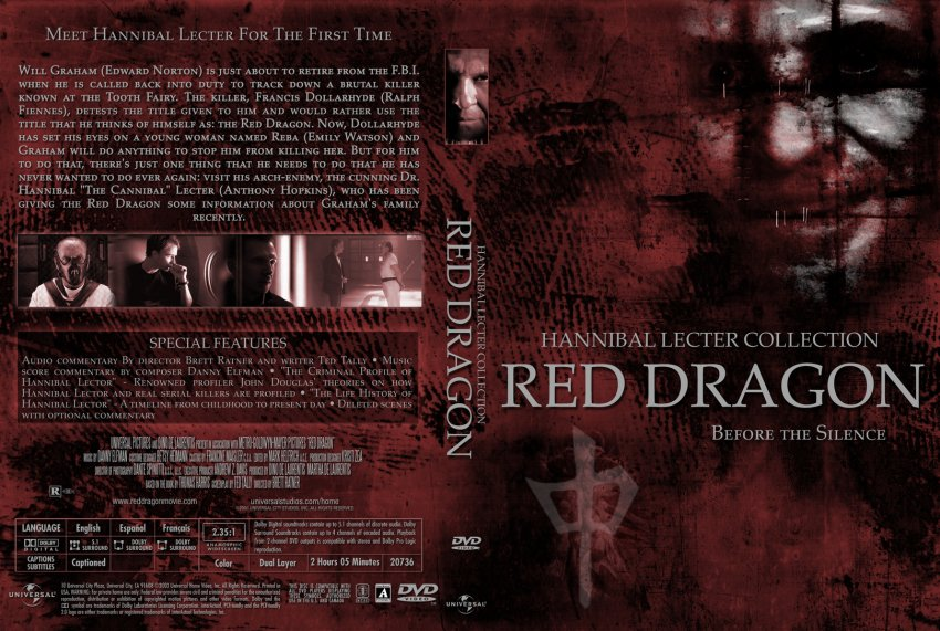 Red Dragon - Movie DVD Custom Covers - 1246Red Dragon cstm ...