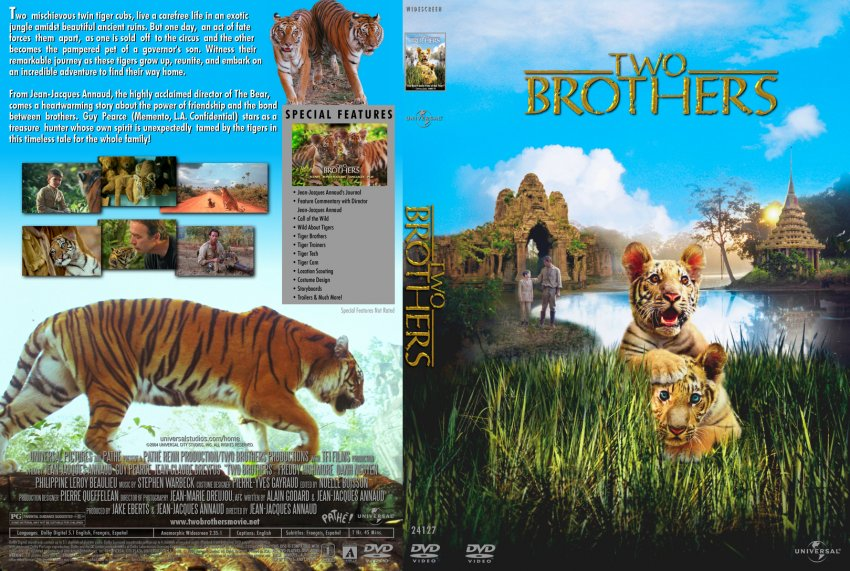 two brothers movie dvd custom covers 1249two brothers