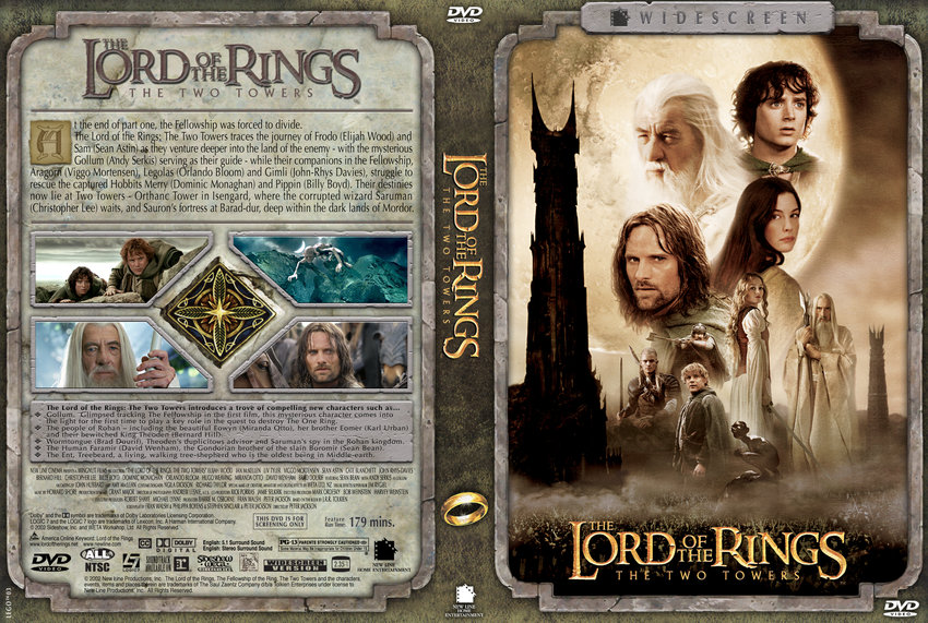 The Two Towers - The Lord of the Rings - Movie DVD Custom ...