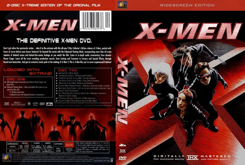 X Men Dvd Cover: 133X-men Red R1 English