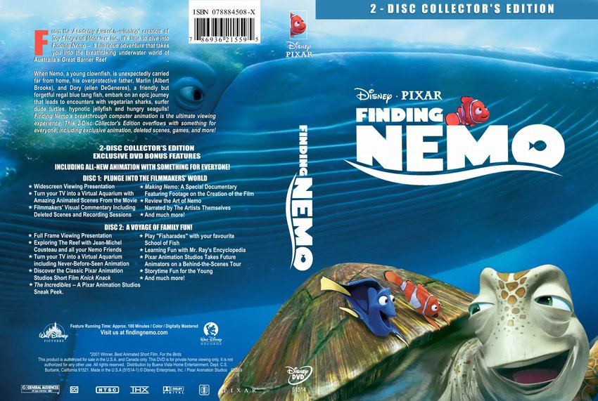 Finding Nemo - Movie DVD Custom Covers - 141findingnemo ...
