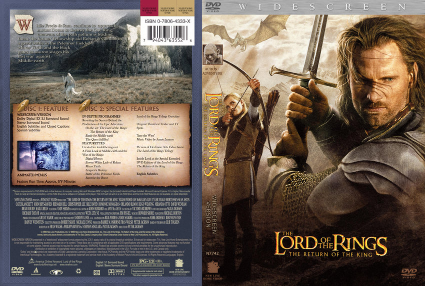 Lord of The Rings - Return of The King Custom - Movie DVD ...