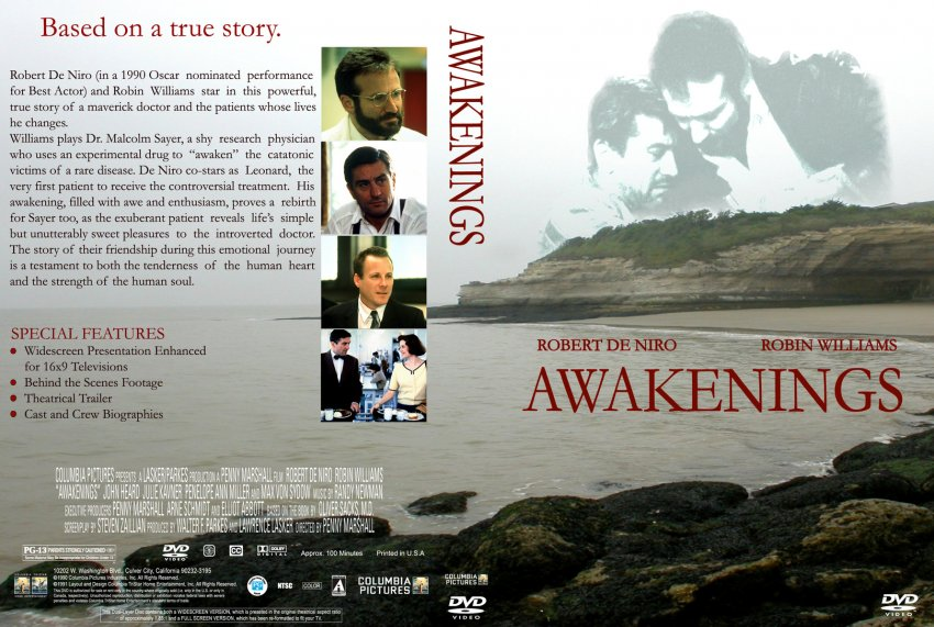 the movie awakenings Dr malcolm sayer, a shy research physician, uses an experimental drug to awaken the catatonic victims of a rare disease leonard is the first patient to receive the.