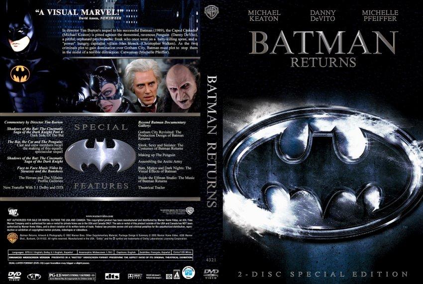 Batman Returns - Movie DVD Custom Covers - 1502Batman ...