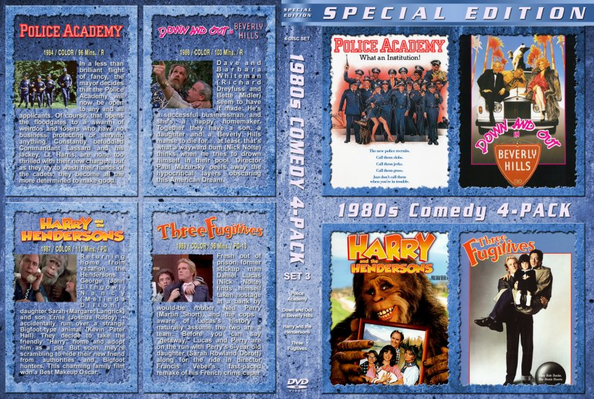 1980s comedy collection set 3 movie dvd custom covers 1980s
