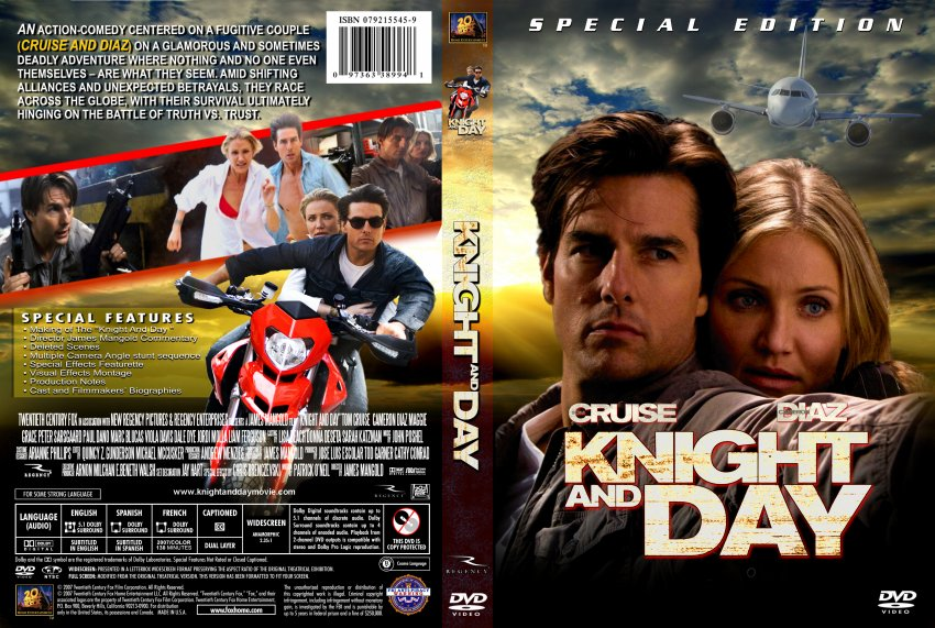 Knight and day 2010 custom dvd movie dvd custom covers knight and