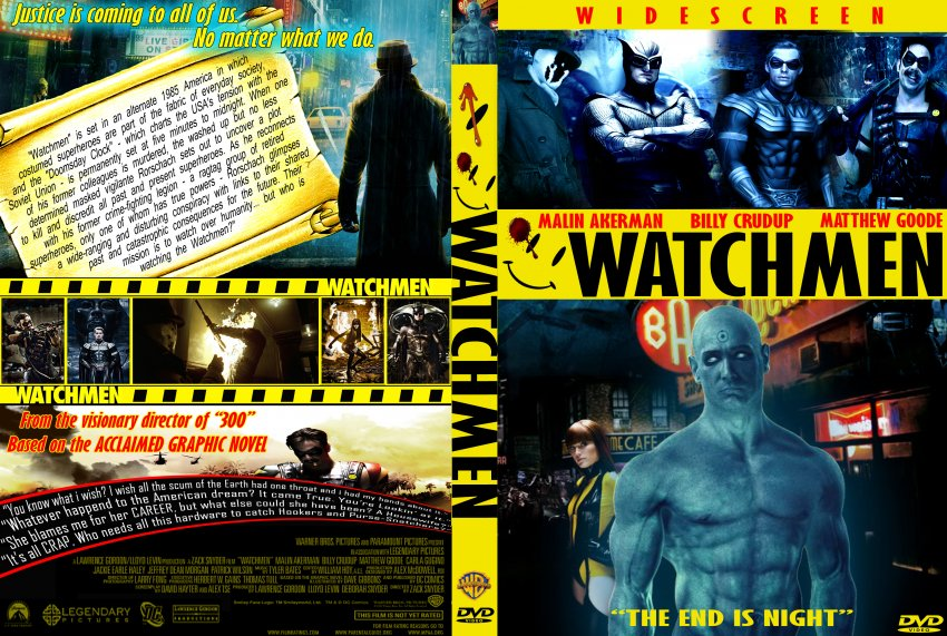 Watchmen - Movie DVD Custom Covers - Watchmen custom v11 ...