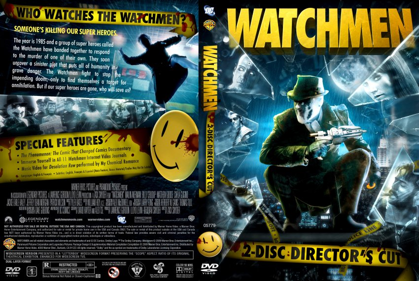 Watchmen - Movie DVD Custom Covers - watchmen directors ...