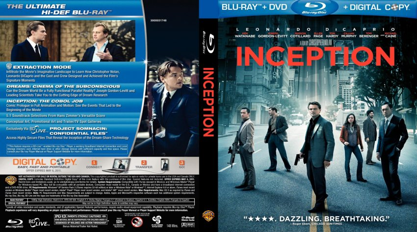 Inception Dvd Cover Art Inception custo...