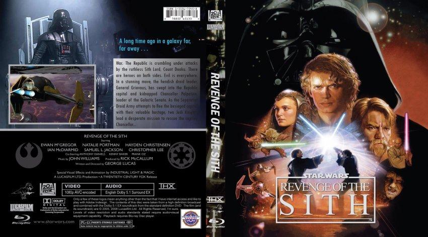 Star Wars Revenge Of The Sith Movie Blu Ray Custom Covers Star Wars Revenge Of The Sith English Custom Bluray F Dvd Covers
