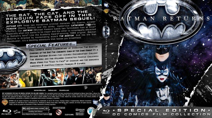 Batman Returns - Movie Blu-Ray Custom Covers - batman 1992 ...