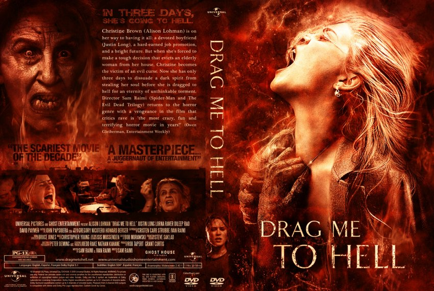 drag me to hell movie dvd custom covers drag me to