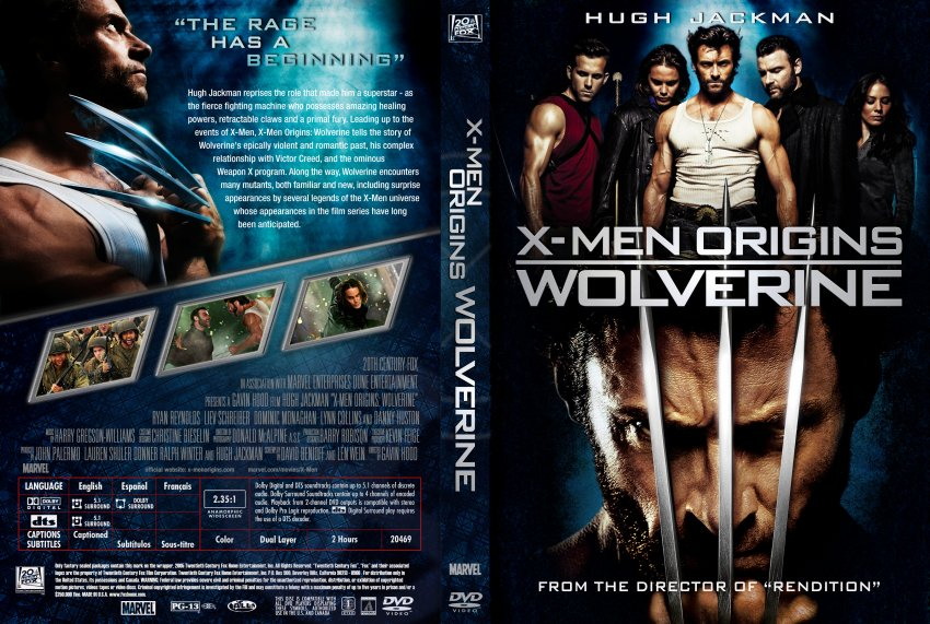 X Men Dvd Cover: X-Men Origins Wolverine Custom