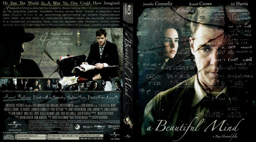 Beautiful Mind  Movie BluRay Custom Covers  A Beautiful Mind