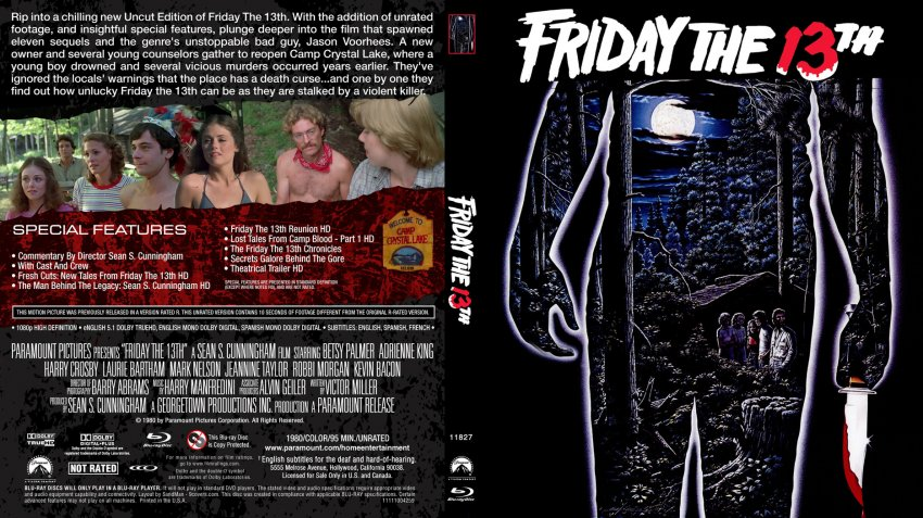 Friday The 13th 1980 Dvd Cover