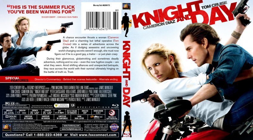 Knight and day movie blu ray custom covers knight and day bluray