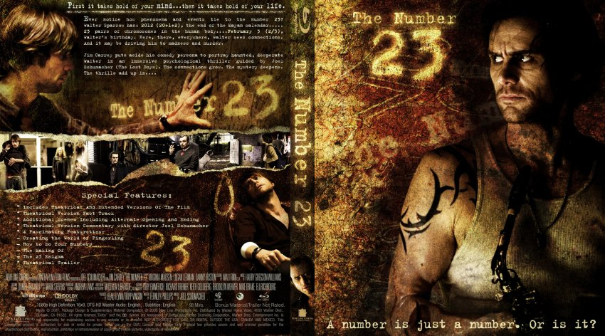 The Number 23 - Movie Blu-Ray Custom Covers - the Number 23 bluray ...