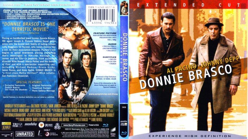 Donnie Brasco - Movie Blu-Ray Scanned Covers - Donnie ...