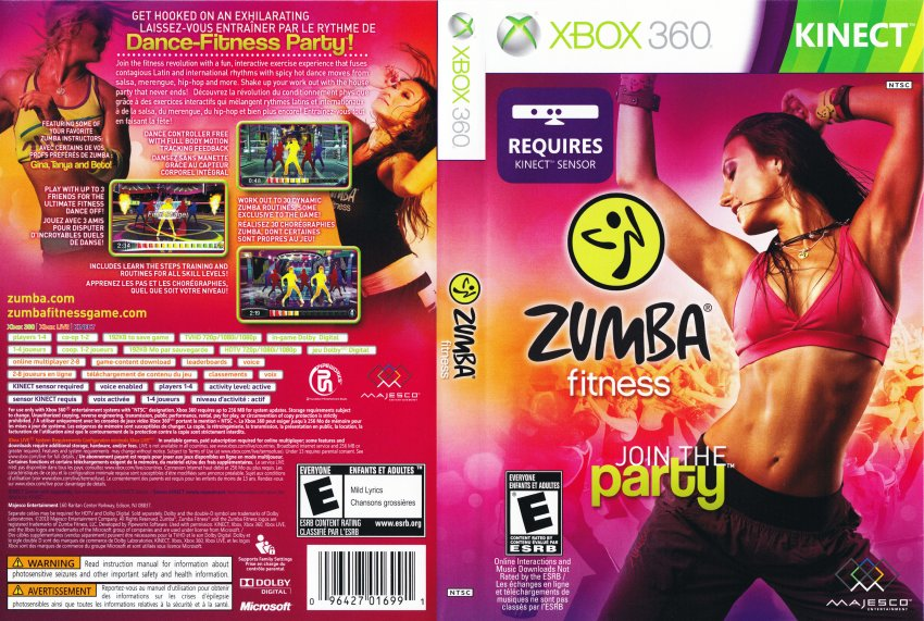 zumba fitness dvd english french ntsc f xbox 360 game covers zumba fitness dvd english. Black Bedroom Furniture Sets. Home Design Ideas
