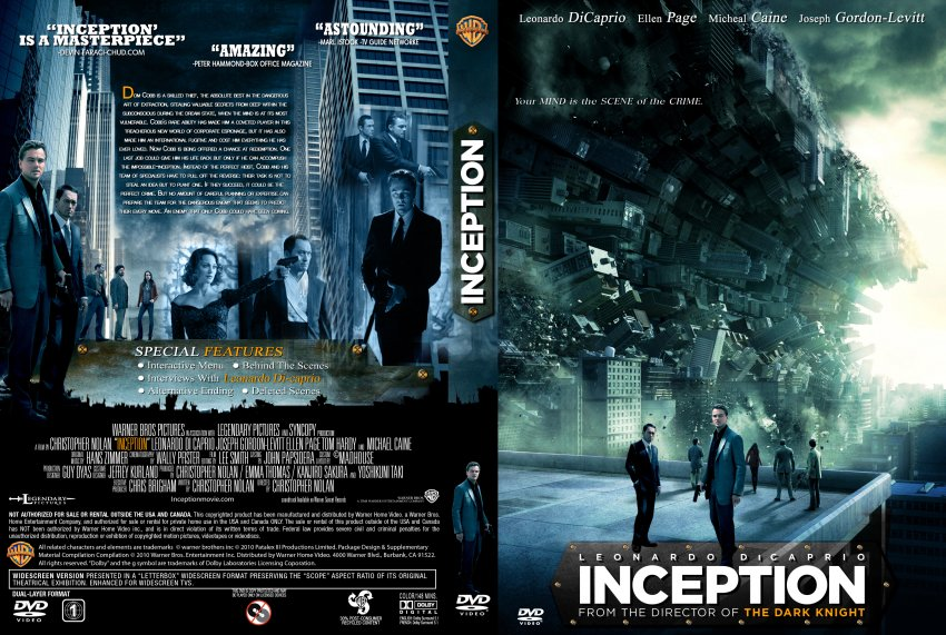 Inception Dvd Cover Art Inception - Movie DVD ...