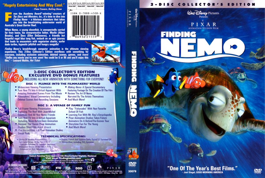 Finding Nemo - Movie DVD Scanned Covers - 211finding nemo ...