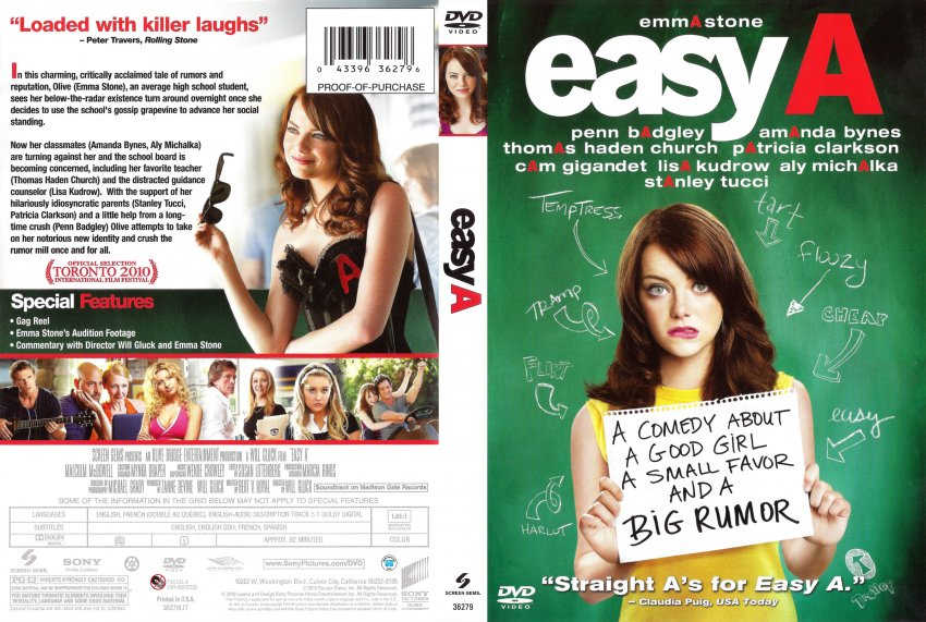 easy a the movie That's the lesson olive learns in easy a when we meet her,  much of the movie  turns on marianne's judgmental treatment of olive for a brief.