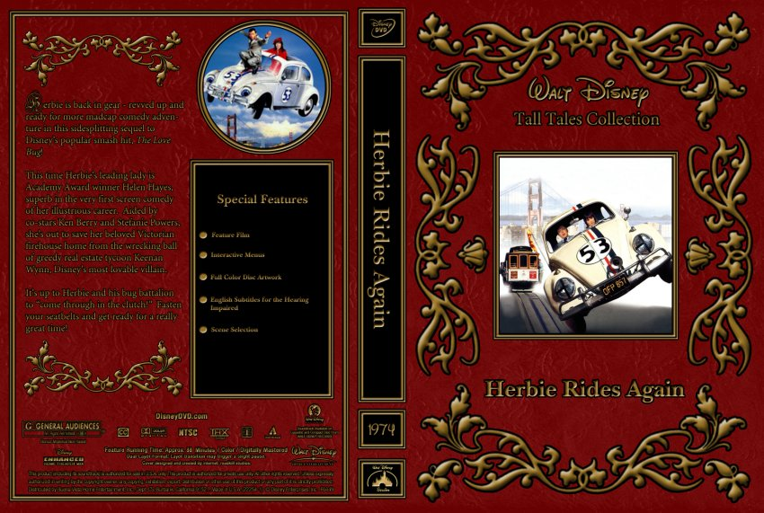 Herebie Rides Again - Movie DVD Custom Covers - 1974 ...