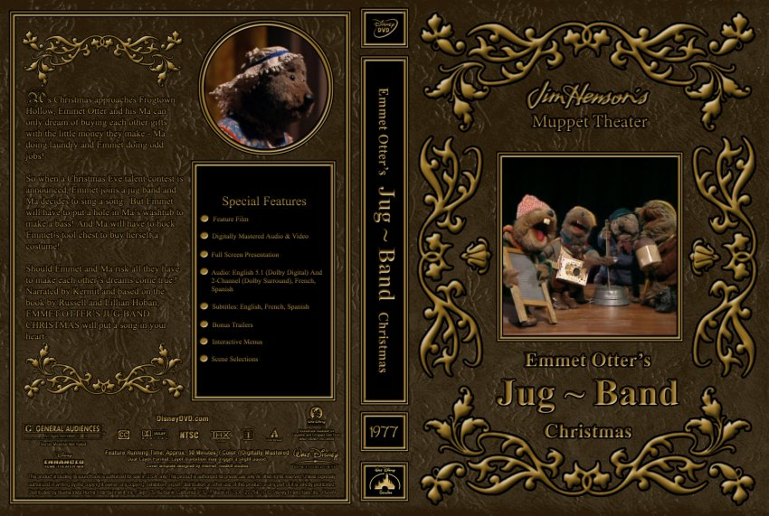 Emmet Otter\'s Jug Band Christmas - Movie DVD Custom Covers - 1977 ...