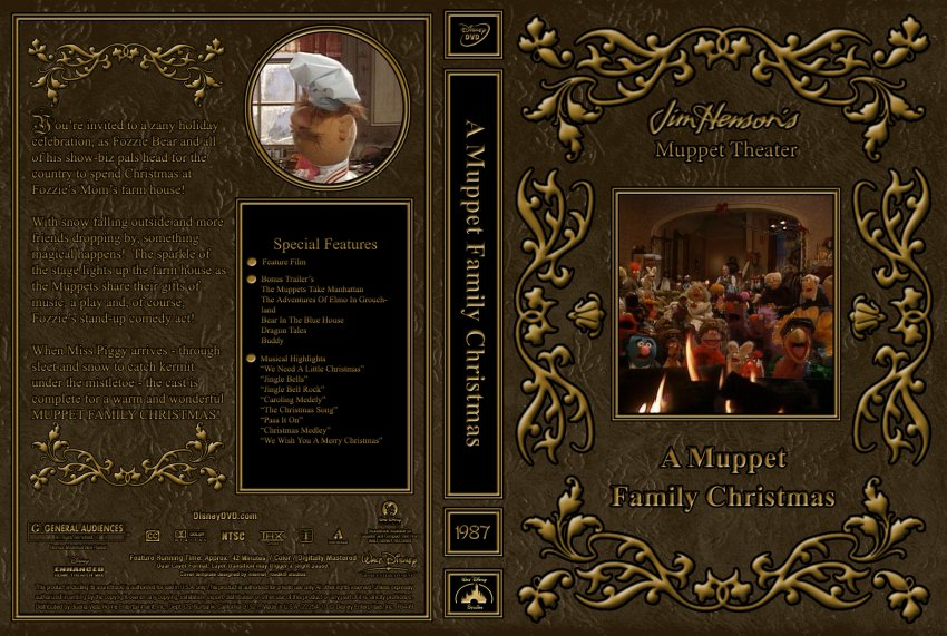 a muppet family christmas movie dvd custom covers 1987 a muppet family christmas dvd covers