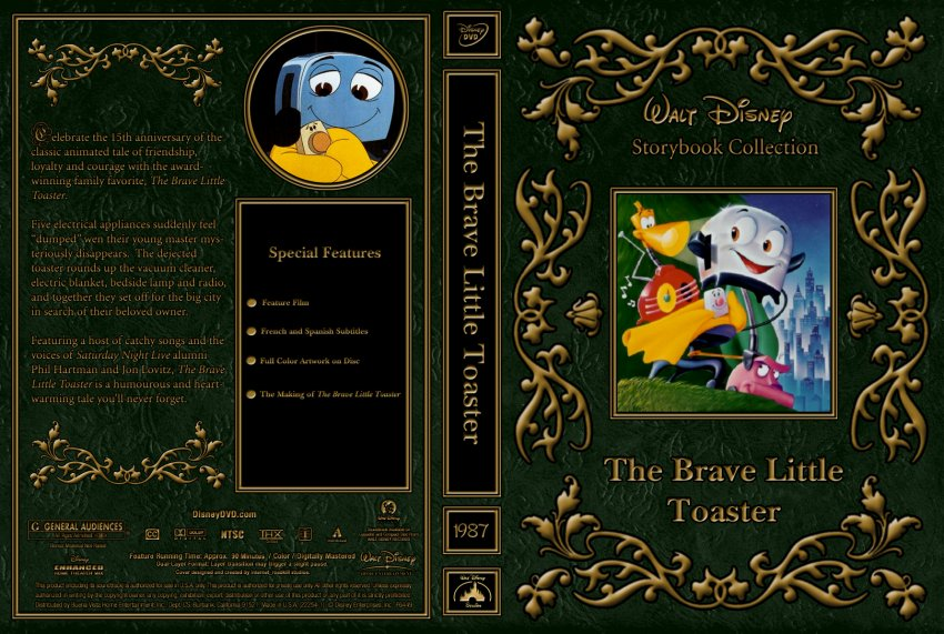 The Brave Little Toaster Movie DVD Custom Covers 1987 The