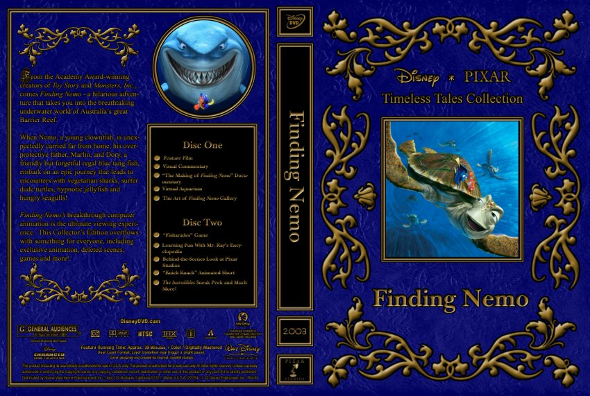 Finding Nemo - Movie DVD Custom Covers - 2003 Finding Nemo ...