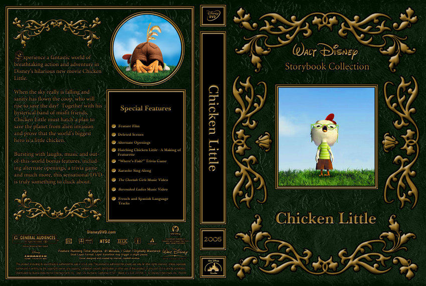 Chicken Little - Movie DVD Custom Covers - 2005 Chicken ...