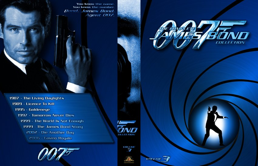 007 The Complete James Bond Collection Custom Volume 3 Movie Dvd Custom Covers 2118007