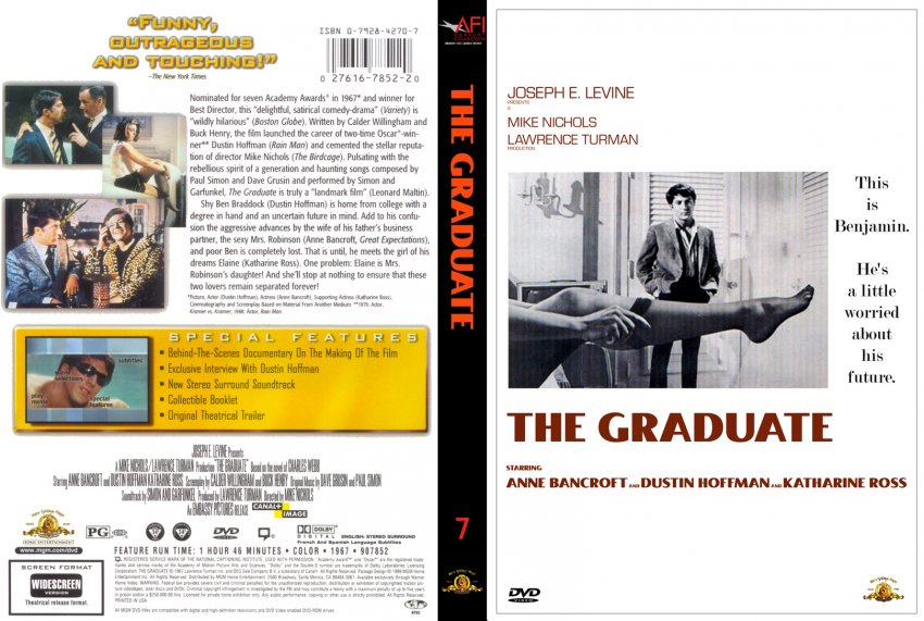 a review of joseph e levines the graduate Showman of the screen has 3 ratings and 1 review raquel said: showman of the screen by at mckenna explores the tumultuous and joseph e levine (1905--1987) was.