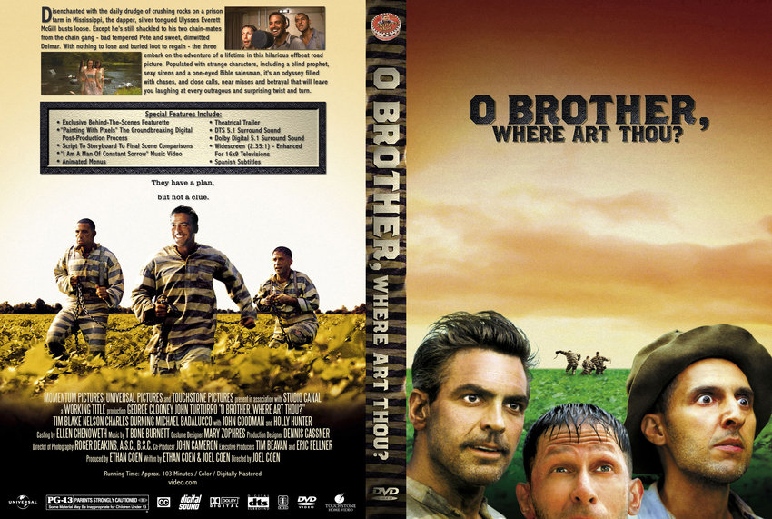 O Brother, Where Art Thou? - Movie DVD Custom Covers ...