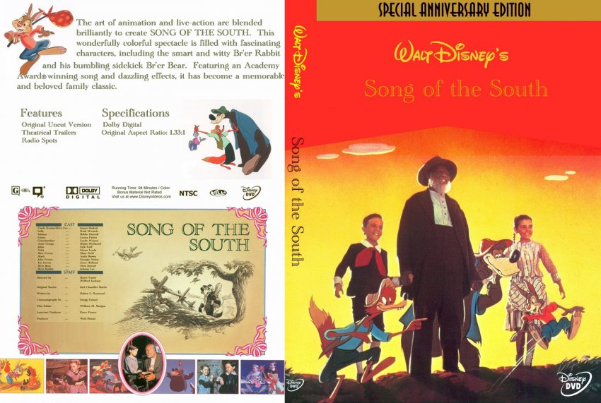 Songs Dvd Song of The South Dvd-cover