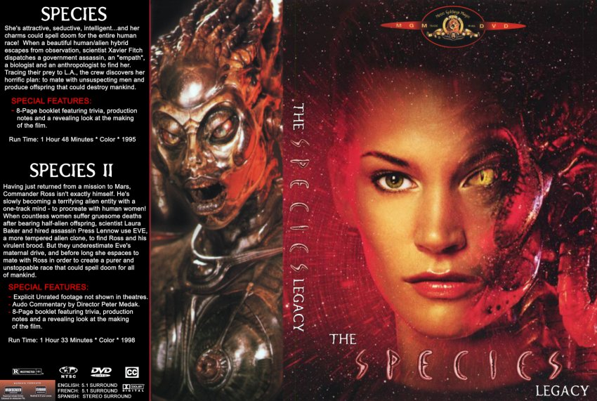 the species legacy movie dvd custom covers 211species